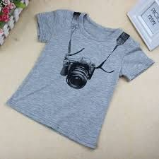 Cartoon Funny Camera Short Sleeve T Shirt
