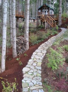 Beautiful pathway leading to. Fancy Tree House / The Green Life