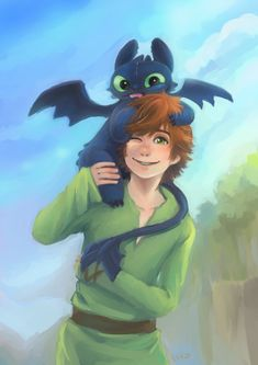 How to Train your Dragon | Hiccup TIBI toothless by hiraco.deviantart.com on @deviantART