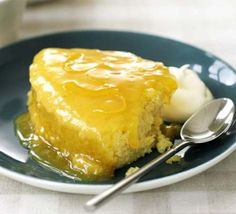 Fastest-ever lemon pudding. Being short of time needn't stop you making your own pudding. This microwave-friendly sponge pudding is ready in 10 minutes and can easily be a chocolate pud too. Lemon Pudding Recipes, Lemon Pudding Cake, Bbc Good Food Recipes, Cooking Recipes, Batch Cooking, Easy Cooking, Sweet Recipes, Easy Recipes, Just Desserts