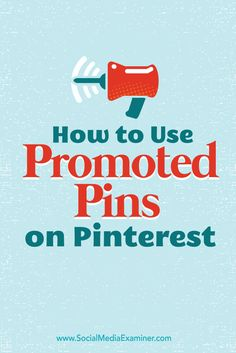 Want to get your pins in front of customers?  Pinterest promoted pins can help you drive referral traffic and increase sales.  In this article you'll discover how to create promoted pins on Pinterest.  Via @smexaminer.