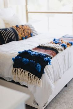 Beautiful boho bedroom decor.