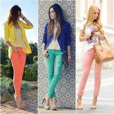 Calças coloridas u.u
