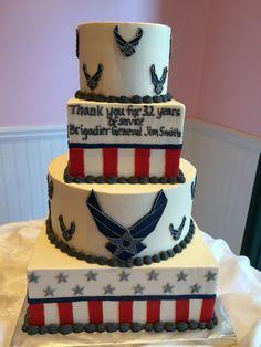 Airforce Retirement Cake- SweetPea Cakes, Bakery, Crystal Lake | CUSTOM CAKES