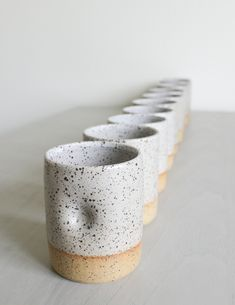 Speckled Ceramic Cup with Thumb Hold – Clay/Pottery – Dimpled Tumbler/Water Glass/Mug – White Glaze – Handmade – Wheel Thrown – Modern – Pottery Pottery Vase, Ceramic Pottery, Slab Pottery, Ceramics Pottery Mugs, Glazed Pottery, Pottery Plates, Broken Glass Art, Clay Mugs, Wheel Thrown Pottery