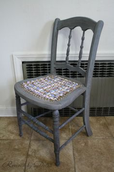 What a great idea for a trashed caned chair!