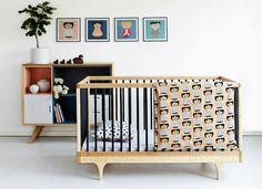 lovely crib from Kalon Studio and even more cute cupboard ( brand not known)