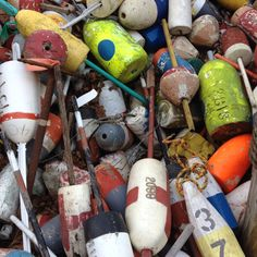 Where lobster trap buoys go to die.