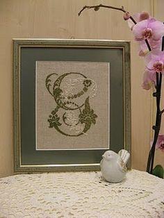 cross stitch monogram G