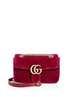 Gucci GG Marmont Velvet Chain Shoulder Bag
