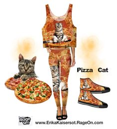 """""""Pizza Cat Set"""" by erikakaisersot ❤ liked on Polyvore featuring PizzaCat"""