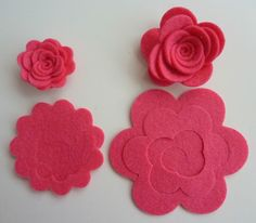 Felt 3 D flowers to make