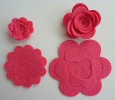 Felt 3 D flowers to make
