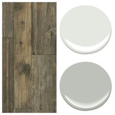 Bedford Forest flooring by Armstrong; Pure White & Smoke Embers paint colors by Benjamin Moore Paint Color Palettes, Paint Color Schemes, Paint Colors For Home, House Colors, Family Room Colors, Interior Wall Colors, Exterior Paint, House Painting, Decoration