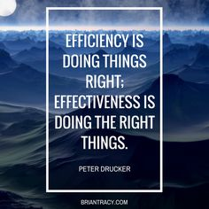 To be #successful, one must be both #efficient & #effective.