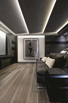 ♂ Modern, masculine interior.living room space