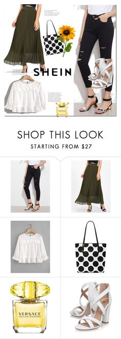 """Shein 2"" by ajisa-ikanovic ❤ liked on Polyvore featuring Versace and Miss KG"