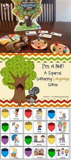 Great language companion cards for the game Sneaky Snacky Squirrel $
