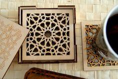 Wood Coasters by KustomKalligraphy  Islamic Geometric Pattern