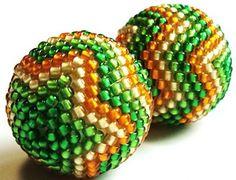 Изумительные таланты: Схема оплетения бусины / Scheme of the braiding beads