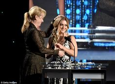 Very Hollywood: She accepted her grandmother's award from Meryl Streep...