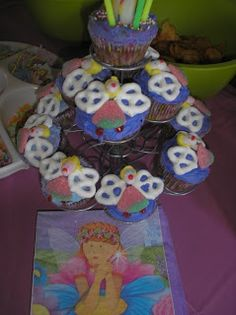 fairy cupcakes for my fairy birthday party a few years ago <3