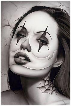 Tears of a Clown by Spider Payasa Woman Tattoo Poster Fine Art Print – moodswingsonthenet