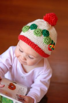 Hungry caterpillar knitted hat