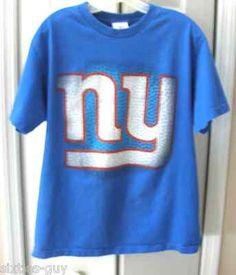 New York Giants Mens Large Blue NFL Team T-shirt Football NY logo New York 072c773a4