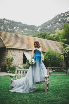 22 Ombre Wedding Dresses For Brides Who Want To Show Their True Colors | HuffPost