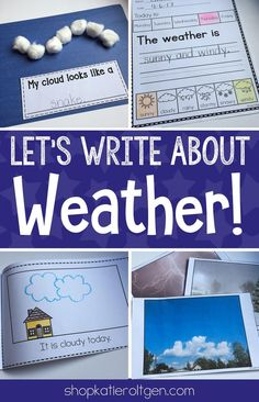 Writing about the weather is one of my favorite springtime activities in Kindergarten!  This weather writing pack includes ten activities that will enhance your weather unit. There's a weather journal, literacy center, interactive mini book, opinion and narrative writing pages, and more!