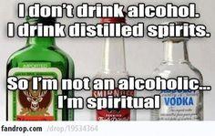 Hella Spiritual #funny #alcohol #funny