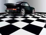 Classic Checker Board Flooring. #GarageFlooring