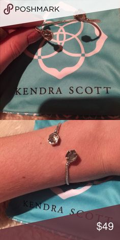 Kendra Scott bracelet Simple elegant Kendra bracelet. Can adjust it to your wrist size. Looks great paired with a watch and other arm candy. Make me an offer! Kendra Scott Jewelry Bracelets