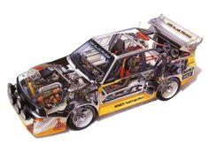 Audi Quattro S1 rally car - cutaway