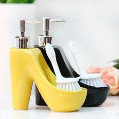 Unique Porcelain Shoes Shaped Soap Dispenser For Women. Decorative  SoapsBathroom ...