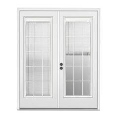 French Patio Door With Blinds Between The Glass Door To