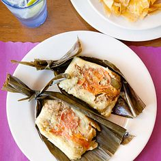 "Ecuadorian Tamales. ""Ecuadorian tamales are different than most tamales, wrapped in banana leaves as opposed to corn husks,"" ."