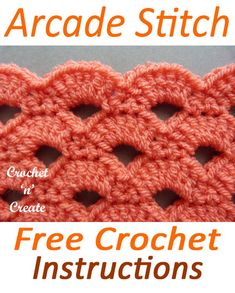 crochet stitches for beginners The arcade stitch, learn how to crochet this stitch in my FREE stitch tutorial, it creates a lovely fan pattern and is perfect for blankets, shawls and more.The arcade crochet stitch is a lovely reversible and firm patt Crochet Stitches For Beginners, Crochet Stitches Patterns, Crochet Designs, Stitch Patterns, Knitting Patterns, Crochet Blanket Stitches, Crochet Blankets, Learn To Crochet, Easy Crochet
