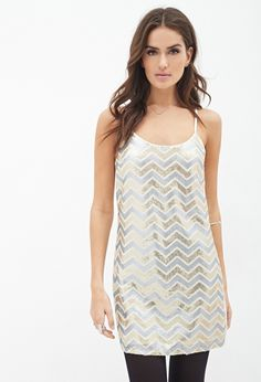 Sequined Zigzag Cami Dress - Splash out inidiculously Sexy Holiday Dresses ... → Fashion Holiday
