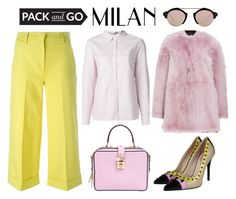 """Pack and Go: Milan Fashion Week"" by alaria ❤ liked on Polyvore featuring Burberry, Moncler, Fendi, Jo No Fui, Illesteva, Dolce&Gabbana, women's clothing, women, female and woman"