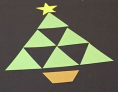 Easy Christmas Crafts Construction Paper Triangles Christmas Tree