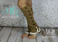 Adult leg warmers   ruffle lace button Leg by TheRitzBoutique, $18.99