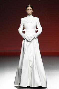 """Senate Gown for Liana Merian Antonio Sicilia, Fall 2015 "" Weird Fashion, Love Fashion, High Fashion, Fashion Outfits, Fashion Design, Fall Fashion, Latest Fashion, Moda Cyberpunk, Cyberpunk Fashion"