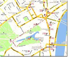 Ruta andando en el centro de Londres en Viaje por Londres - Ruta 1 London Calling, London Travel, Leicester, Great Britain, Travel Inspiration, England, Maps, Cities, Wanderlust