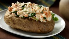 Stop eating plain old baked potatoes!  Try this salmon florentine stuffed baked potato!