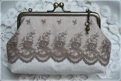 Vintage purse with beautiful lace