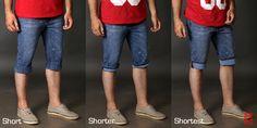 Short, Shorter or Shortest ? Lightweight Denim Shorts with flexible length