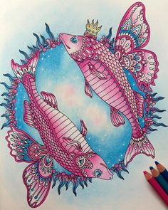 Inspirational Coloring Pages by @misspiloute #sommarnatt #hannakarlzon #coloring…