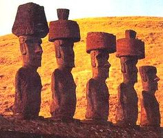 Easter Island (Rapa Nui) boasts of ancient Polynesian culture, and I am a culture buff so I will be visiting. I dare say, people from ancient worlds were so much more creative & advanced than modern world people are today! Easter Island Statues, Polynesian Islands, Polynesian Culture, Rock Art, Wonders Of The World, Monument Valley, Countries, Places, Mysterious
